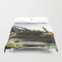 Good Morning, Wraith Duvet Cover