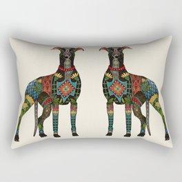 greyhound ivory Rectangular Pillow