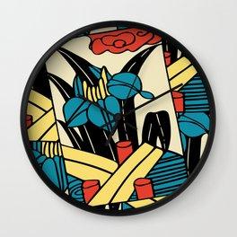 Hanafuda-May Wall Clock