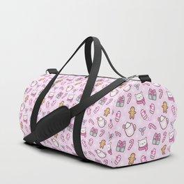 Cute Christmas // Pink Duffle Bag