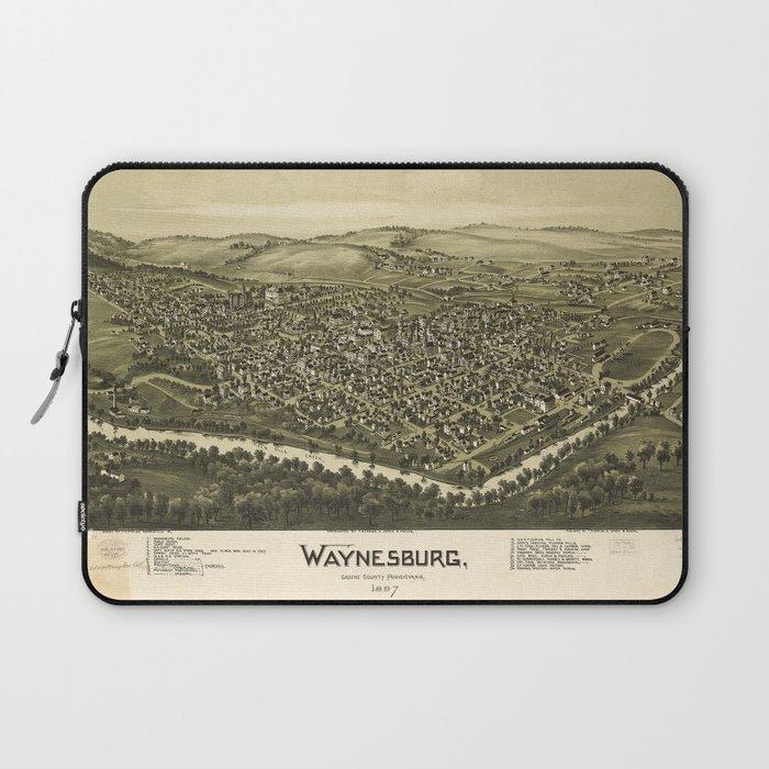 Aerial View of Waynesburg, Pennsylvania (1897) Laptop Sleeve
