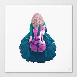 Forest Green Cellist II Canvas Print