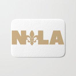 New Orleans Louisiana NOLA Design Saints Bath Mat