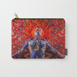 V30 Stunning Art Design Manipulation Moroccan Traditional Carpet. Carry-All Pouch