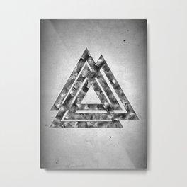 Three Triangles Metal Print