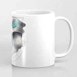Blue Flame Wolf Skull Coffee Mug
