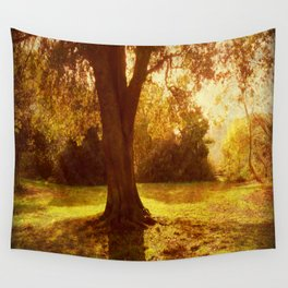A Pleasant Place to Sit. Wall Tapestry