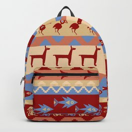 Inca Animals Fish and Birds Pattern Backpack