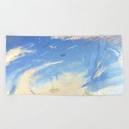 Energetic Clouds Beach Towel