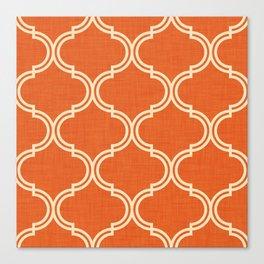 Ogee pattern Orange Burnt Canvas Print