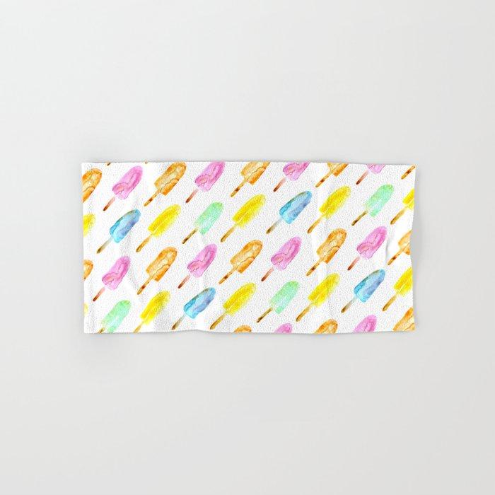 Watercolor popsicles Hand & Bath Towel