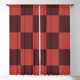 Classic Checker Leucrota Blackout Curtain