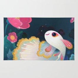 Flower guppy Rug