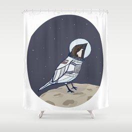 Space Sparrow Shower Curtain