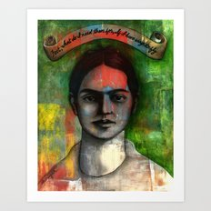 Wings to Fly, a portrait of Frida Kahlo Art Print