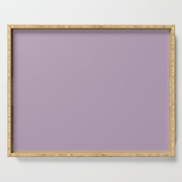 Dark Chalky Pastel Purple Solid Color Serving Tray