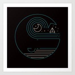 Moonlight Companions Art Print