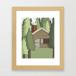 Deep in the Forest Illustration Framed Art Print