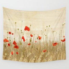 Poppy field Wall Tapestry