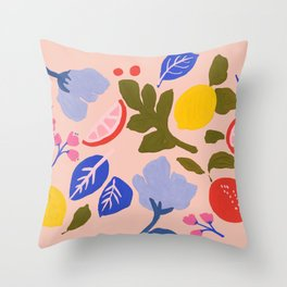 Arancia Rossa Throw Pillow