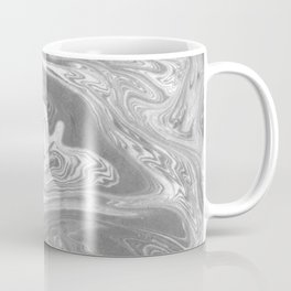 Eiji - spilled ink art marbled paper marbling abstract painting topography nature black and white Coffee Mug