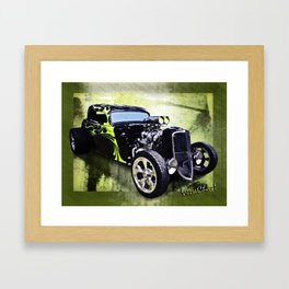 1934 Ford Three Window Coupe Hot Rod Framed Art Print