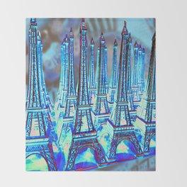 TOUR PARIS PARIS PARIS PARIS Throw Blanket