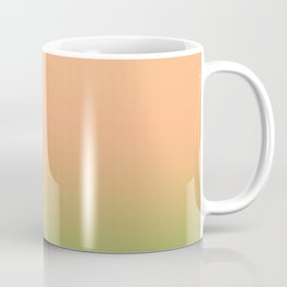 Melon | Pastel orange and green gradient Coffee Mug
