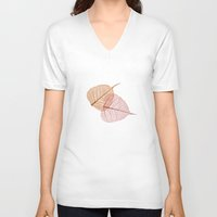 vegetable V-neck T-shirts featuring vegetable ribs by 1 monde à part
