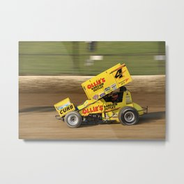 Kasey on the gas Metal Print