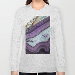 Purple Agate Slice Long Sleeve T-shirt