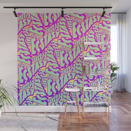 'Ecstacy' 70's Psych Poster Fade Pattern Wall Mural