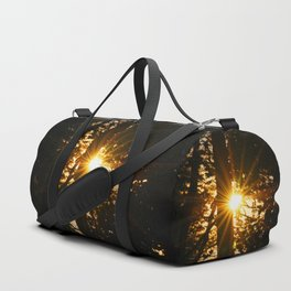 Sunrise amidst the forest Duffle Bag