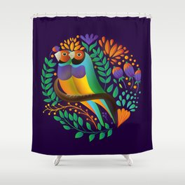 Gouldian Finches by SCD Balaji Shower Curtain