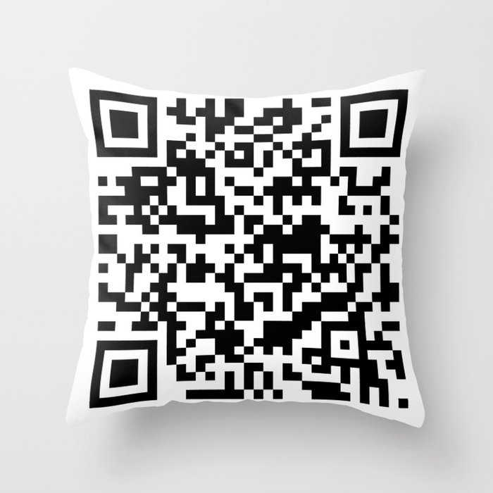 QR Code Pillow Design Throw Pillow