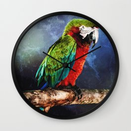 Mister Macaw Wall Clock