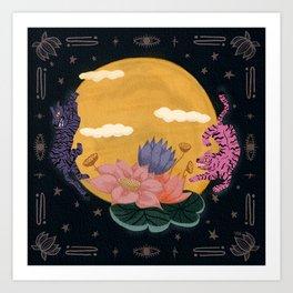 Moon Tigers Art Print