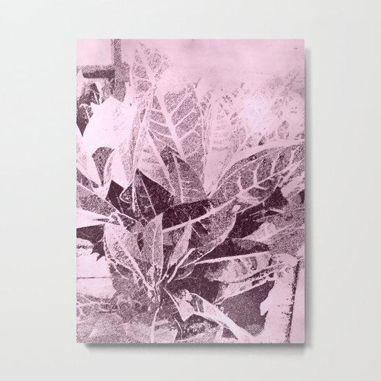 Foliage in Blush Pink Metal Print