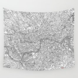 London Map Line Wall Tapestry