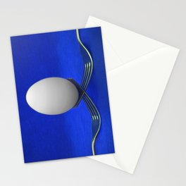 Balanced Breakfast in Blue Stationery Cards