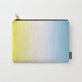 Blue White Yellow Gradient Carry-All Pouch