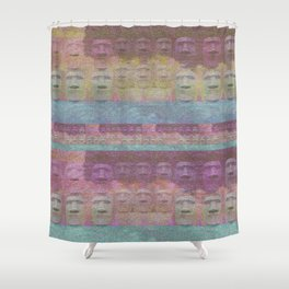 Easter Island Sunset Magic Print Shower Curtain