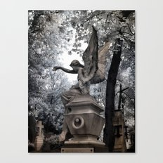 Cemetery Angel - infrared Canvas Print
