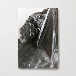 black plastic 05 Metal Print