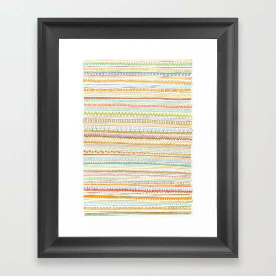 Pencil Doodles Framed Art Print