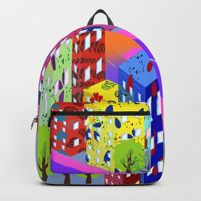 Abstract Urban By Day Backpack