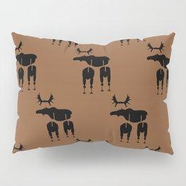 Brown Moose Pattern Pillow Sham