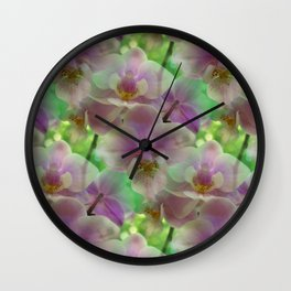 Tropical Pink Orchid Fantasy Wall Clock