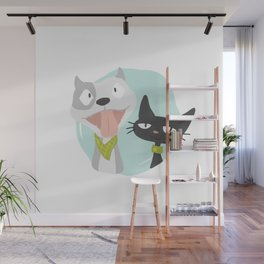 Pit and Friend Wall Mural