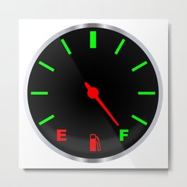 Full Fuel Gauge Metal Print